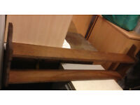 retro vintage antique wall shelve shelf in real wood