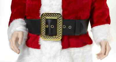 Deluxe Santa Claus Pirate Belt Buckle Christmas Costume Accessory Gold Black