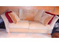 Double Sofa in Beige Waffle Material. (Washable)