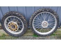 Kawasaki KX 80 or universal trials wheels