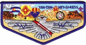 YAH-TAH-HEY-SI-KESS 66 TX PATCH 2015 OA 100TH CENTENNIAL RED SASH FLAP FEW MADE