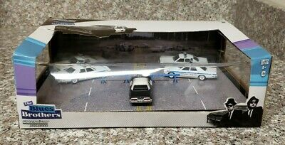 Greenlight The Blues Brothers Diorama Road Block Dela 3048 Rare Damaged Box