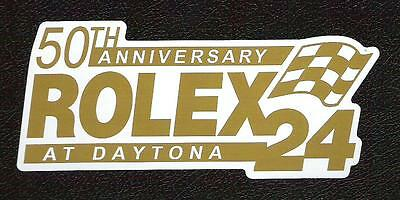 50th Anniversary Rolex 24 Hours Race at Daytona Sticker, Sports Car Racing Decal