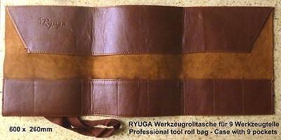 RYUGA Bonsai Werkzeug Roll Tasche Roll Bag Kunstleder 26x60cm stabil TOP-Modell