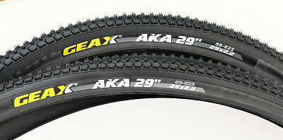 "2 QTY GEAX AKA 29er x 2.2"" Mountain Bike Tire Clincher Wire Bead XC NEW"