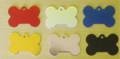 Knochen (Hundemarke mit Gravur, Knochen mit Gravur 38 x 25 mm)