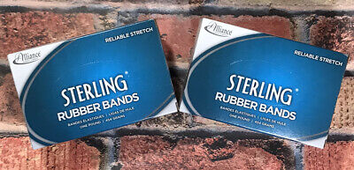 Alliance Sterling Rubber Bands 2 Boxes 107 7 X 58 50 Bands1lb Box 25075-new