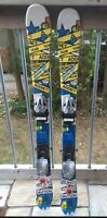 Boys Twin Tip Skis with bindings
