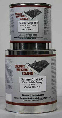 Garage-coat 150 Clear 2-part 100 Solids Epoxy Concrete Floor Coating 1.5gallons