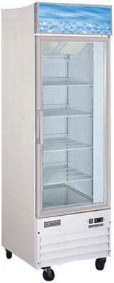 Omcan Re-cn-0023 23cf 1-door Glass Display Cooler Refrigerator Merchandiser New