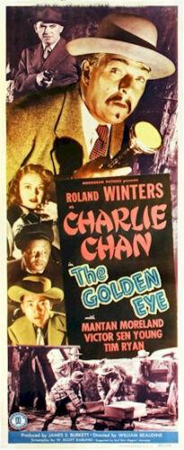 CHARLIE CHAN GOLDEN EYE VINTAGE INSERT ON LINEN