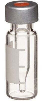 Wheaton W225223-0203 Borosilicate Glass 0.3ml Crimp Top Lvi Vial W 0.005 Red