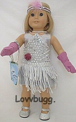 Silver Flapper dress set Kit American Girl doll