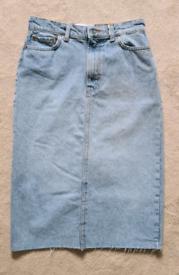 Denim A- Line Skirt
