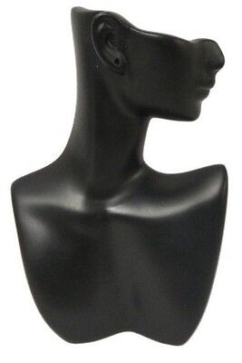 Ds-184 Black Self-standing Abstract Jewelry Display Bust With Pierced Ear
