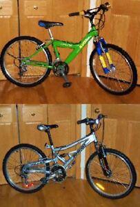 2 Vélos Bicyclettes 24 pouces