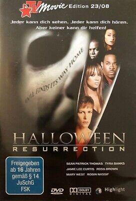 HALLOWEEN RESURRECTION Jamie Lee Curtis, Tyra Banks DVD 2002 & BONUS MATERIAL
