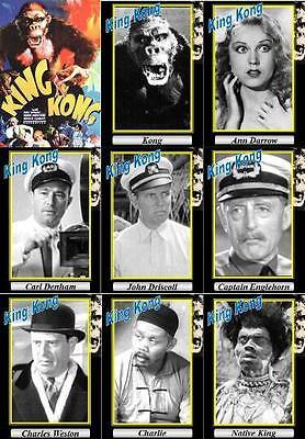 King Kong 1933 movie trading cards. Fay Wray Horror