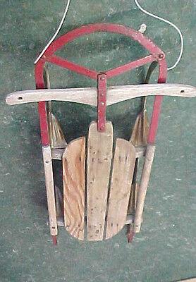 "Vintage Downhill snow sledding snowsled snow sled iron metal rail rails 41"" L"