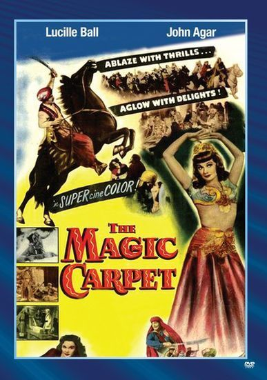 THE MAGIC CARPET (1951 Lucille Ball, John Agar) Region Free DVD - Sealed
