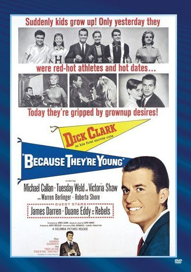 BECAUSE THEY'RE YOUNG (1960 Dick Clark) - Region Free DVD - Sealed