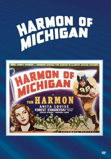 HARMON OF MICHIGAN (1941 Tom Harmon)  Region Free DVD - Sealed