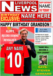 NEW Personalised Liverpool Fan Birthday Card! GREAT!! A5 SIZE!!!  COOL, UNIQUE!!