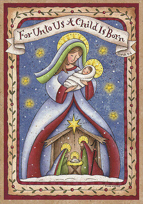 Madonna and Child Nativity - LPG Box of 16 Religious Christmas Cards