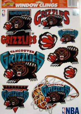 Vancouver Grizzlies NBA Basketball 11 x 17 Muliple Window Clings by Color - Grizzlies Colors