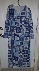 Women's Handmade Flannel Night Gowns with front pocket.