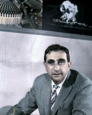 "EDWARD TELLER HYDROGEN BOMB THEORETICAL PHYSICIST 8x10"" HAND COLOR TINTED PHOTO"