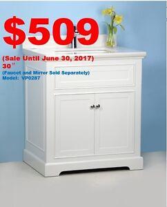 25% OFF---Bathroom Vanities, Shower Doors Surprised Sale!
