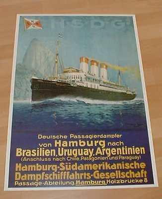 HSDG Hamburg Süd Reedereiplakat Reederei Plakat Poster Repro 70 x 50 cm Neu