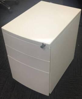 x14 White MOBILE PEDESTALS for office desk (3 drawer) Sydney City Inner Sydney Preview