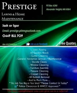 Prestige Lawns & Home Maintenance