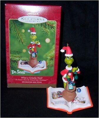 Hallmark DR SEUSS THE GRINCH Grinchy Trick Ornament 2001