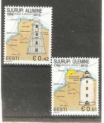 2010  ESTONIA - LIGHTHOUSES - SG 617d/e