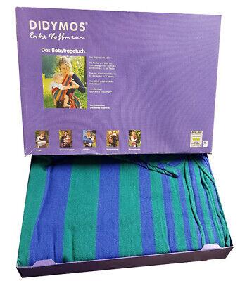 DIDYMOS Das original Babytragetuch Tragehilfe Größe 5 - 410 cm grün/blau