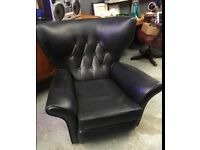 Retro Styled Wing Back button back Arm Chair