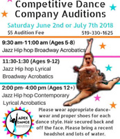 APEX DANCE INDUSTRY Competitive Company Auditions.