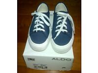 Aldo wedge ladies sneakers in navy blue-size 38