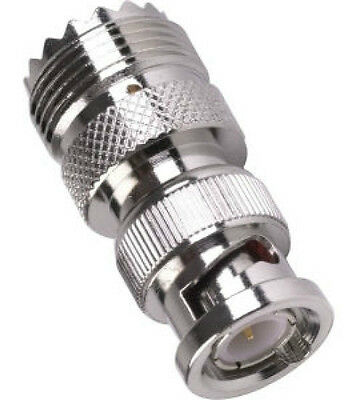 PL259 SO239 Socket Female To BNC Plug Male, RF Adapter Scanner