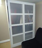 IKEA KVIKNE Wardrobe with 2 sliding doors, white