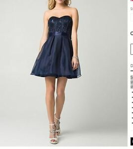 Grad Dress - Extra Small - Sweetheart Dress - Navy Blue
