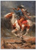 Indian on Horse Painting