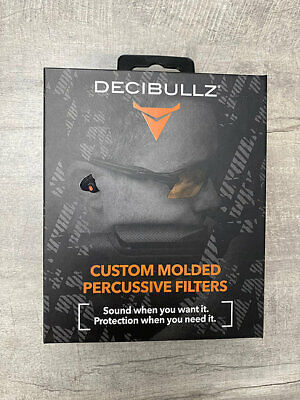 Decibullz Custom Molded Percussive Shooting Filters - Brand New