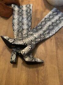 Ladies snakeskin boots