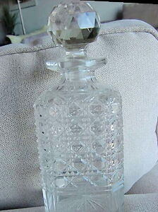 ANTIQUE CUT CRYSTAL WHISKEY DECANTER EACH PRICED AT $65.00