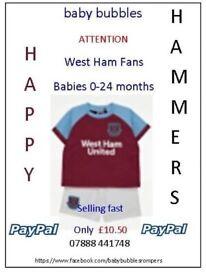 West Ham Baby Set 0-3 to 18-24 months