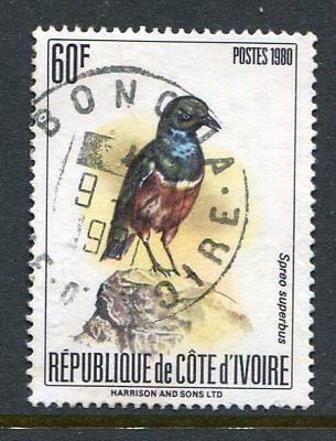 Ivory Coast 580A, Starling Bird, Used 1980